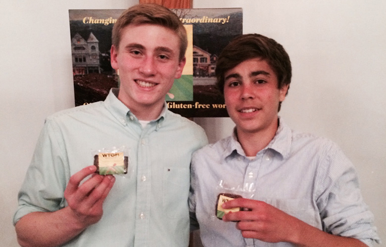 Teen Entrepreneurs Cody Wax and Dawson McCartney, WTGF! What the Gluten-Free!