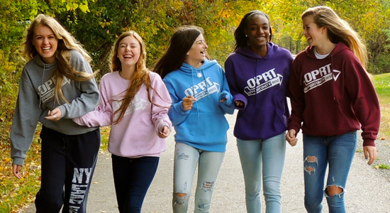 Teen entrepreneurs: Students wearing Opportunity Rise Clothing
