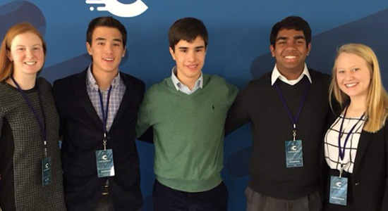 Teen Entrepreneurs -- The Sensei team: Kate Evanko, Aaron Seidman, Stephen Campbell, Deepak Iyer and Miranda Keeler.